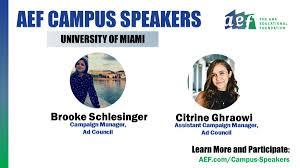 "AEF on Twitter: ""Brooke Schlesinger and Citrine Ghraowi will speak ..."