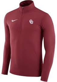 nike 1 4 zip pullover. nike oklahoma sooners mens crimson element 1/4 zip pullover - image 1 4