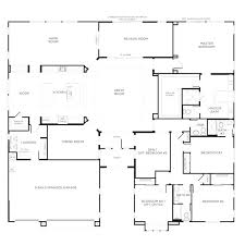 single story four bedroom house plans nice home designs single story floor plans one story house