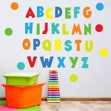 rainbow brights alphabet wall decals