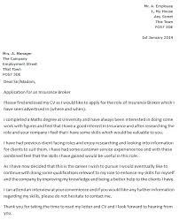 Insurance Broker Cover Letter Example - icover.org.uk