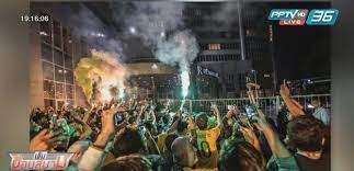 """แฟนบอลแห่ต้อนรับ """"แข้งบราซิล"""" ก่อนดวล """"เซอร์เบีย"""" ฟุตบอลโลก2018 : PPTVHD36"""