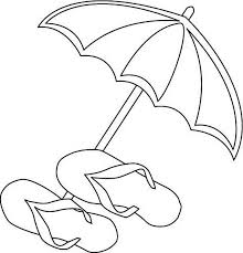 Small Picture A Beach Umbrella and Slippers Coloring Page Download Print