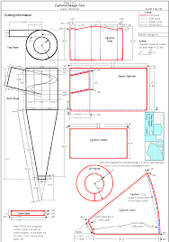 Cyclone Separator Design Software Dust Collection Research Cyclone Plans