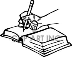 banner freeuse hand writing clip art black and white