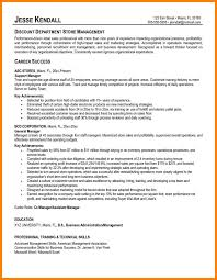 6 Store Manager Resume Examples Phoenix Officeaz