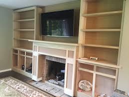 Living Room Built In Cabinets Living Room Built Ins Plans Progress 12 Oaks