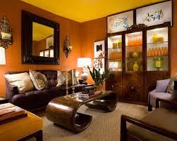 Burnt Orange And Brown Living Room Concept Simple Design Ideas
