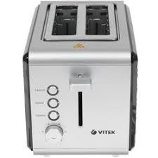 Отзывы покупателей о <b>Тостер Vitek VT-7156</b> серебристый - DNS ...