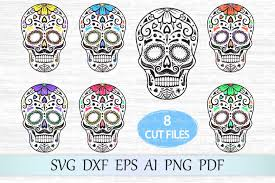 Download 7,641 skull free vectors. Sugar Skull Svg Graphic By Magicartlab Creative Fabrica Candy Skulls Svg Mandala Monograms