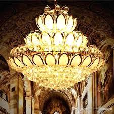 lotus flower chandelier modern gold crystal chandeliers lights fixture lotus flower chandelier golden crystal home indoor lotus flower chandelier