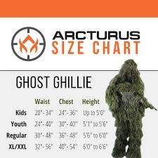 Ghillie Suit Size Chart Arcturus Ghost Ghillie Suit Super Dense Hunting Camo In Woodland Dry Grass
