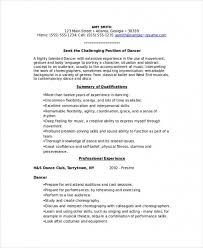 Dance Resume Mesmerizing Download Dancer Resume Template 60 Free Word Pdf Documents Www