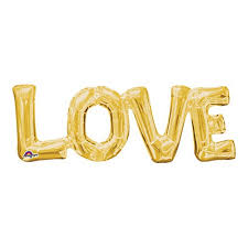 LOVE letters GOLD 25 Valentines Day Balloons fit=500 500