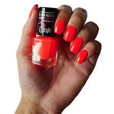 E Style Mini Crazy Nail Enamel Rychleschnoucí Lak Na Nehty Neon Oranžový 28 Peach 7ml