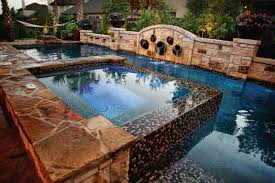 a traditional rectangular pool