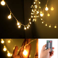 Battery Operated Led Lights With Timer Remote Timer 5 M 50 Led Outdoor Globe String Lights 8