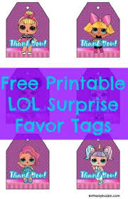 Surprise Images Free Free Printable Lol Surprise Favor Tags Birthday Party Ideas