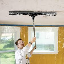How To Put A Light Texture On Drywall How To Apply Knock Down Wall Texture The Family Handyman