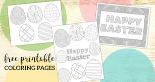 Get crafts, coloring pages, lessons, and more! Free Printable Easter Coloring Sheets Paper Trail Design