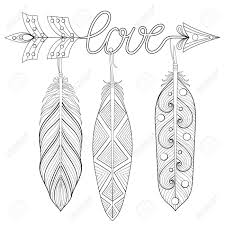 Arrow Feather Drawing At Getdrawingscom Free For Personal Use