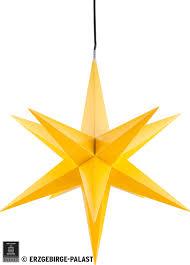 Haßlauer Weihnachtsstern Für Innen Und Außen Gelb Inkl Beleuchtung 75 Cm