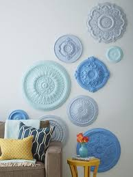 diy ceiling medallion wall art
