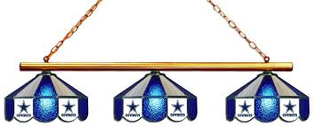 dallas cowboys 3 shade glass hanging lamp
