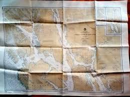 Southeast Alaska Nautical Charts Vintage Alaska Southeast Coast Maritime Nautical Chart Map