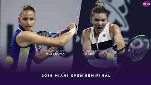2019 miami highlights pliskova halts halep
