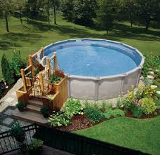 above ground pools are easier to install than in ground pools