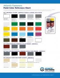 Kubota Paint Chart Atlantic Fasteners Color Chart