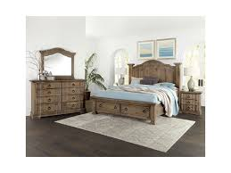 Vaughan Bassett Rustic Hills King Bedroom Group | Miller Home ...