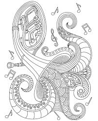 Musical Instrument Colorish Coloring Book For