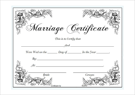 Wedding Certificate Template Cool Collection Of Free Certified Clipart Marriage Certificate Download