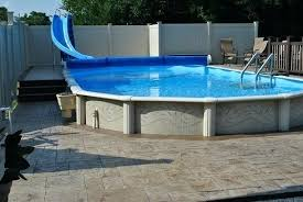 in ground pools with slides.  Ground Water Slide For Inground Pool Above Ground Slides  Pools   On In Ground Pools With Slides D