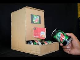 Diy Mini Vending Machine Magnificent How To Make Mountain Dew Vending Machine Using Cardboard DIY YouTube