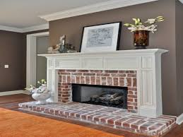 paint color with red brick fireplace best 2017