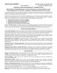 Business Operations Manager Resume Objective Proyectoportal Com