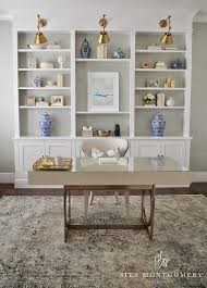 home office shelf. Home Office Built Ins With Grasscloth On Back Of Shelves Shelf S