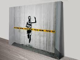 on banksy wall art prints with police line do not cross buy cheap banksy canvas prints australia