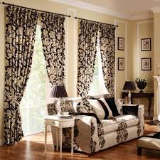 Unique Design Curtains In Living Room Superb Brown Flower Curtain Color  Ideas For Small Living Room