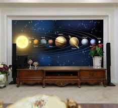 image is loading nine planets solar system full wall mural photo  on solar system 3d wall art with nine planets solar system full wall mural photo wallpaper print home
