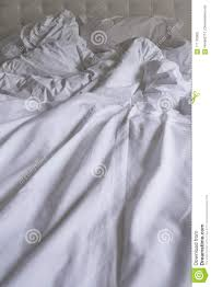 unmade bed side view. Royalty-Free Stock Photo Unmade Bed Side View N