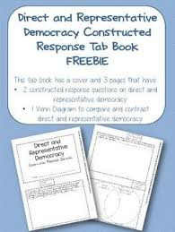 direct and representative democracy venn diagram direct and representative democracy constructed response tab book
