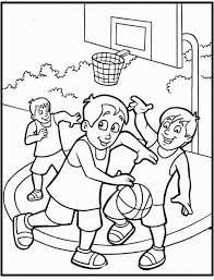 Free Printable Coloring Sheet Of Basketball Sport For Kids Sports