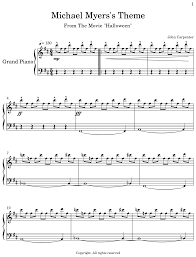 Resurrection the theme is written in the rare 5/4 time signature. Michael Myers S Theme Flat