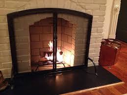 Brass Fireplace Doors  EBayBlack Fireplace Doors