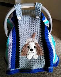 puppy car seat crochet cover