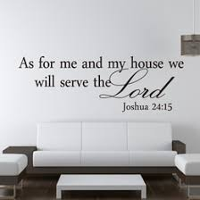 wall stickers living room small house free shipping as for me and my house religious removable vinyl sticker